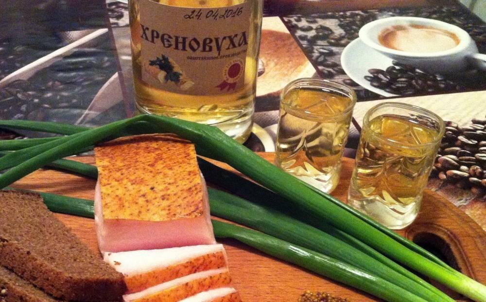 Простые рецепты хреновухи на водке. приготовление в домашних условиях