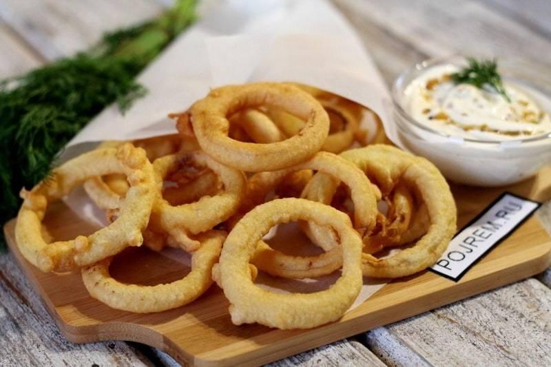 Луковые кольца в кляре – 5 рецептов в домашних условиях