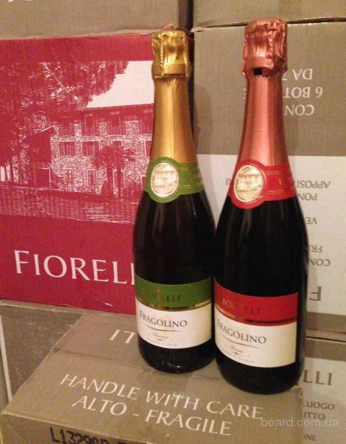 Обзор шампанского фраголино