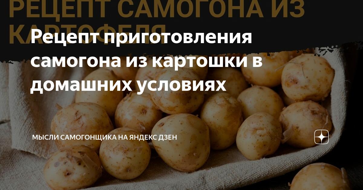 Как приготовить брагу на картофеле
