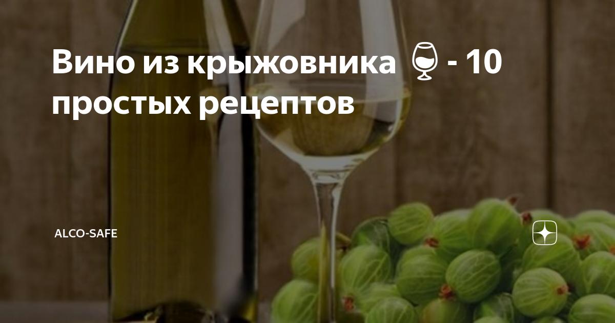 Лучшие рецепты вина из крыжовника: делаем просто, получается вкусно!