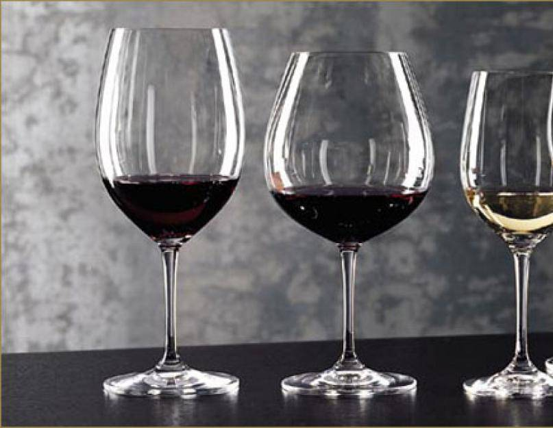 Разница между бокалами для красного и белого вина