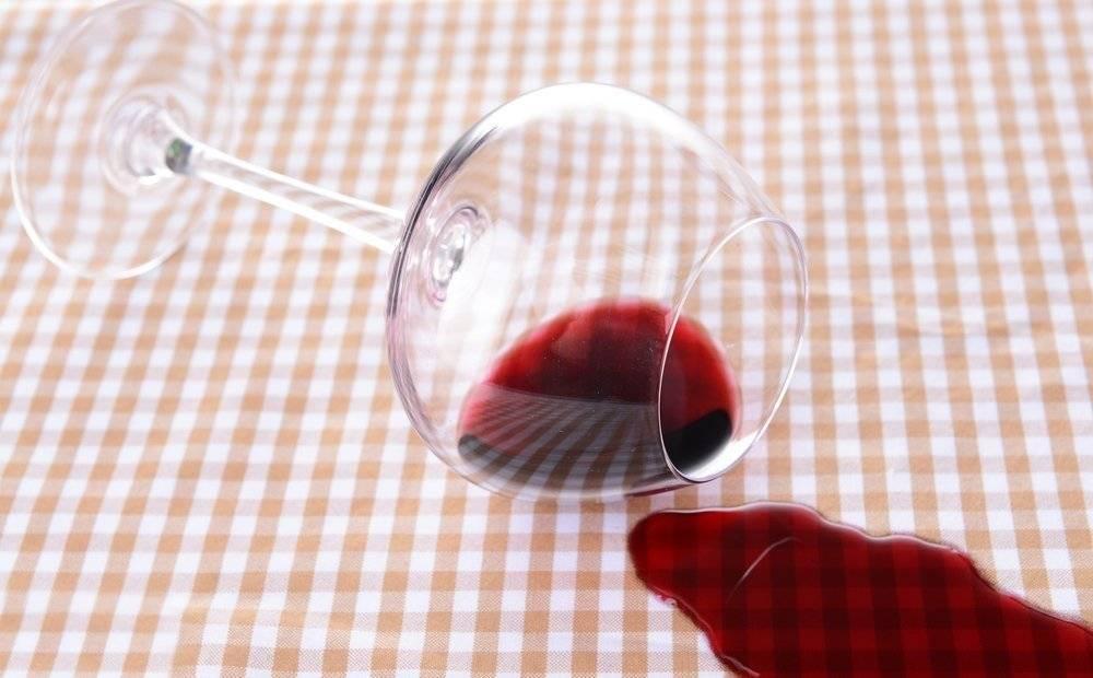 Как отстирать пятно от вина
