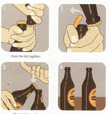 Как открыть бутылку пива с помощью ключей. как открыть бутылку пива быстро и просто: способы