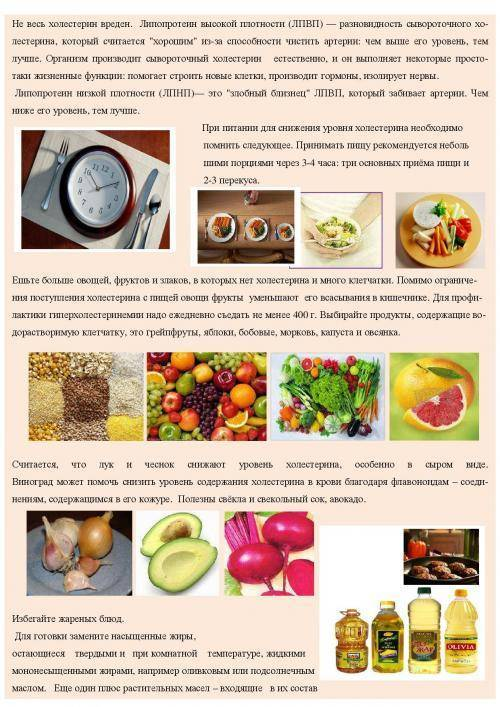 Продукты, понижающие содержание сахара и холестерина в крови