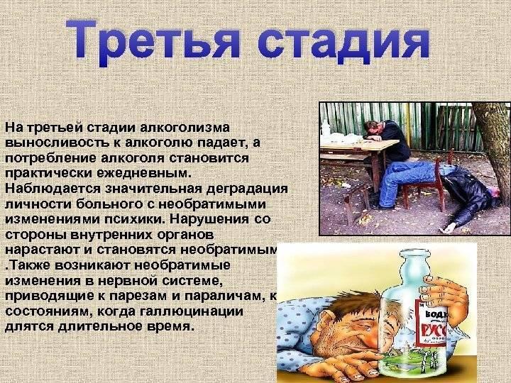 Симптомы и стадии алкоголизма