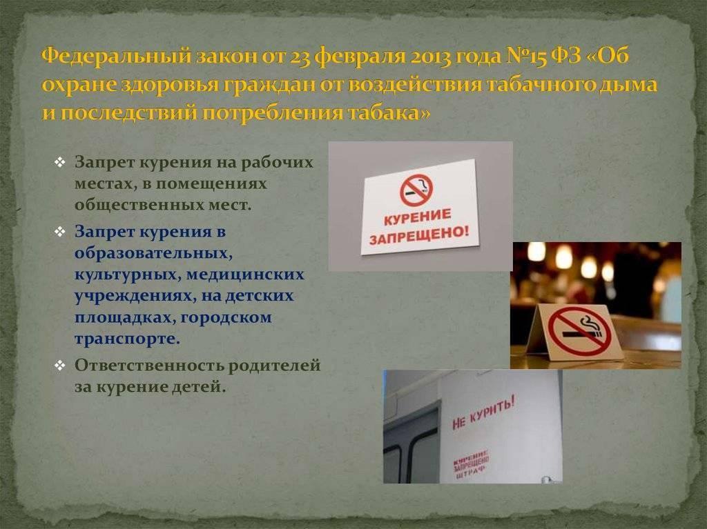 Про закон о запрете курения в общественных местах в 2020 году