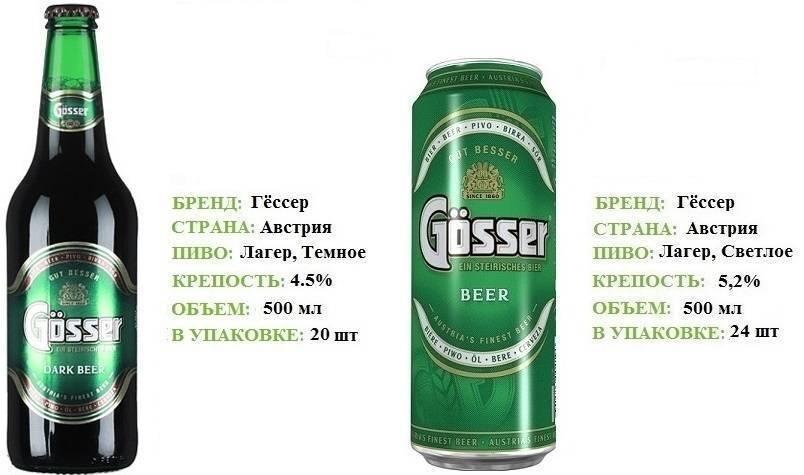 Пиво gosser (гессер): история, виды напитка и как его правильно пить