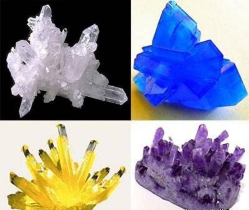 Кристаллы из соли – выращивание крупных и разноцветных красивых декоративных кристаллов (110 фото)