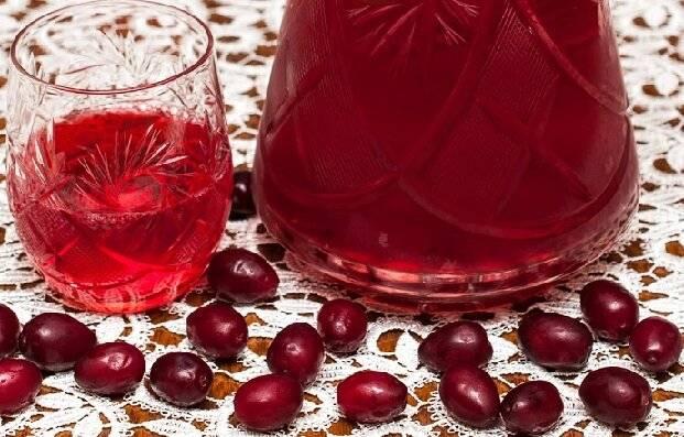 Кизиловая настойка на спирту или на водке в домашних условиях